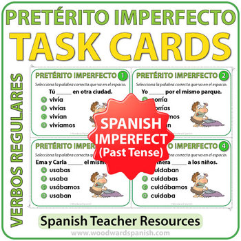 Pretérito Imperfecto - Spanish Past Tense Task Cards