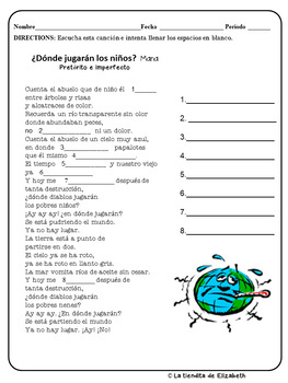 Preterito and Imperfecto- Cloze Activities for your Spanish Class