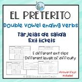 Preterito double vowel ending verbs Exit Slips Spanish