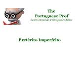 Portuguese Lesson - Pretérito imperfeito do Indicativo