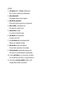 Realidades 2, Chapter 5A. Preterit or Imperfect. Quiz / Activities.