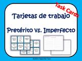 Preterito vs imperfecto task cards