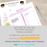 Pretravel Pack/ Fillable worksheets to get ready for your trip
