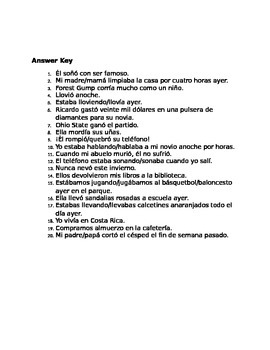 ¿Pretérito o Imperfecto? - Translate to Spanish
