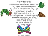 Pretty Butterfly Poem and Props