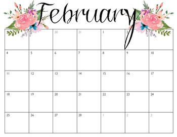 pretty calendars january december 2018 by find me in first Monster Clip Art for Teachers February Clip Art for Teachers