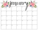 Pretty Calendars January-December 2018