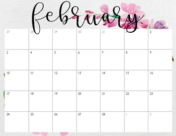 Pretty Calendars January-December 2019 pink floral by ...