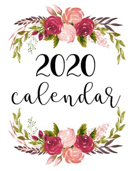 picture relating to Pretty Calendars called Charming Calendars January-December 2019 vertical darkish red