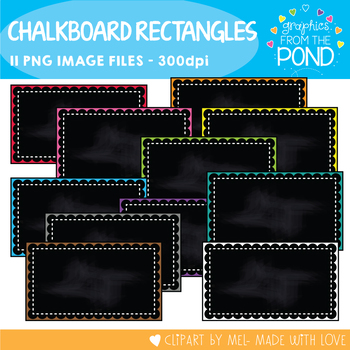 Pretty Chalkboard Rectangle Frames