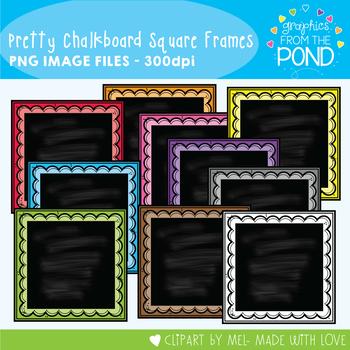 Pretty Chalkboard Square Frames