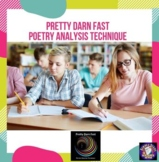 Pretty Darn Fast Poetry Analysis Technique