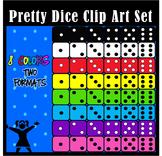 Pretty Dice Clip Art for Teachers- 48 Pieces
