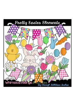 Pretty Easter Elements Clipart Collection