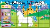 Pretty Fairy Magical Castle Unicorn Girl Chore Chart + Edi