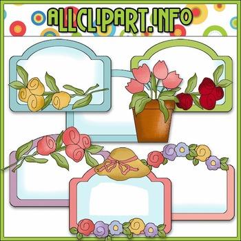 Pretty Flower Labels - Cheryl Seslar Clip Art