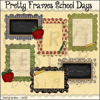 Pretty Frames School Days