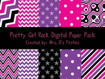 Pretty Girl Rock Digital Paper Pack
