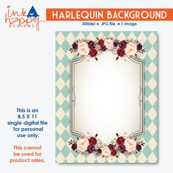 Pretty HARLEQUIN Background | clipart