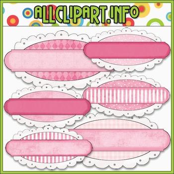 Pretty In Pink Journaling Tags - Cheryl Seslar Clip Art