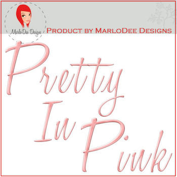 Pretty In Pink Metal Look Alphabet Letter Graphics