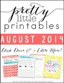 Pretty Little Printables: AUGUST {Desk Decor & a Little More!}