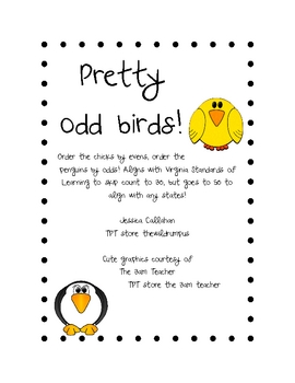 Pretty Odd Birds! Skip Counting Odds and Evens