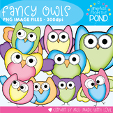 Pretty Owls - Clipart for Teachers and Classrooms