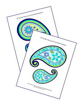 Pretty Paisley Accents - Coordinates with Pretty Paisley Classroom Theme