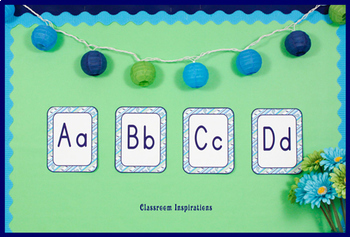 Alphabet Line - Editable - Coordinates with Pretty Paisley Classroom Theme