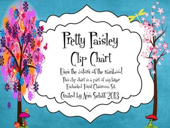 Pretty Paisley Behavior Clip Chart
