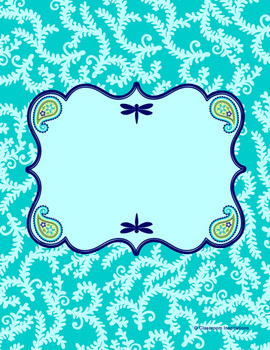 Binder Covers and Spines - Editable - Coordinates with Pretty Paisley Theme