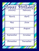 Birthday Charts - Coordinates with Pretty Paisley Classroom Theme
