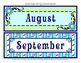 Calendar Headers and Tags - Coordinates with Pretty Paisley Classroom Theme