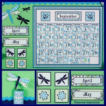 Calendar Set - Editable - Coordinates with Pretty Paisley Classroom Theme