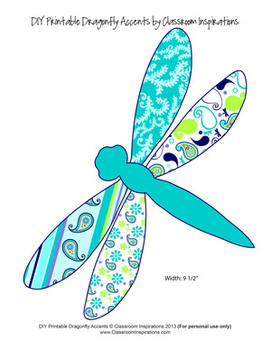Pretty Paisley Dragonfly Accents