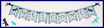 Banner - Editable - Coordinates with Pretty Paisley Classroom Theme