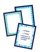 Bordered Posters or Frames - Editable - Coordinates with Pretty Paisley Theme