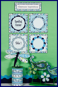 Center or Table Signs - Editable - Coordinates with Pretty Paisley Theme