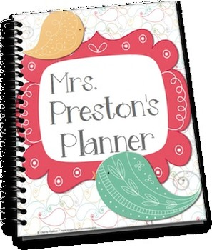 Pretty Paisley Mini Teacher Planner Set