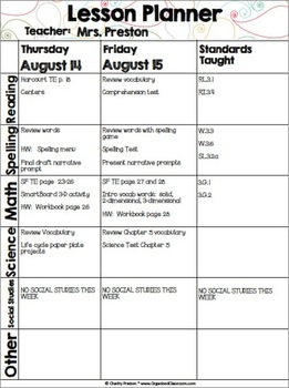 Pretty Paisley Simple Teacher Planner Set