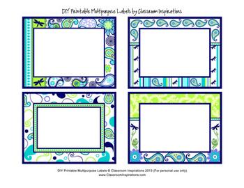 Multipurpose Labels - Editable - Coordinates with Pretty P