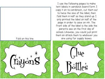 Pretty Paisley: Organization and Back to School Labels