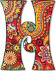 Pretty Paisley Patterned Alphabet - Vector and PNG - Full