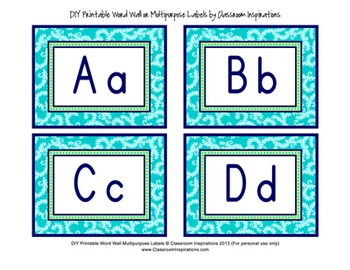 Word Wall / Multipurpose Labels - Editable - Coordinates with Pretty Paisley