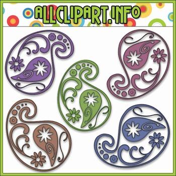 Pretty Paisleys Clip Art