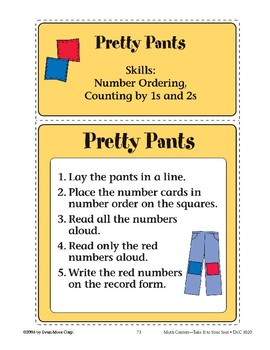 Pretty Pants (Number Order and Counting)