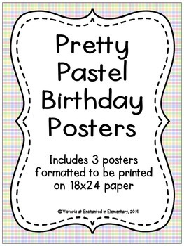 Pretty Pastel Birthday Posters