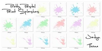 Paint Splashes Clipart
