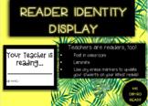 FREE Teacher Reader Identity Display--B & W